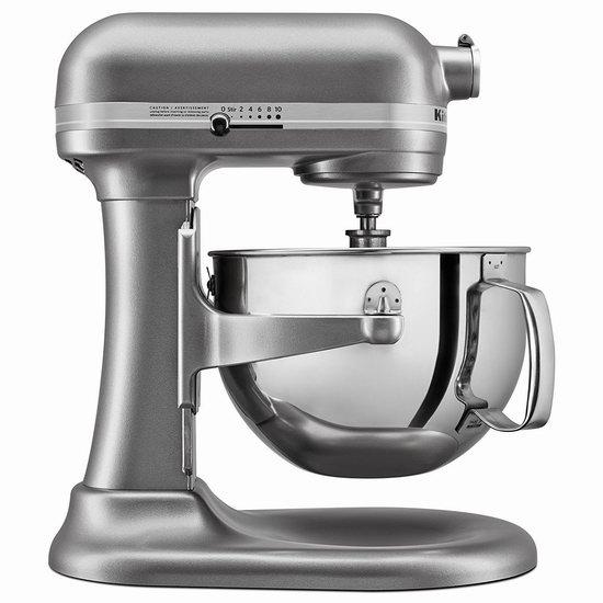 KitchenAid 专业系列 KL26M1XSL 6夸脱大功率 多功能厨师机4.8折 363.66加元包邮!2色可选!