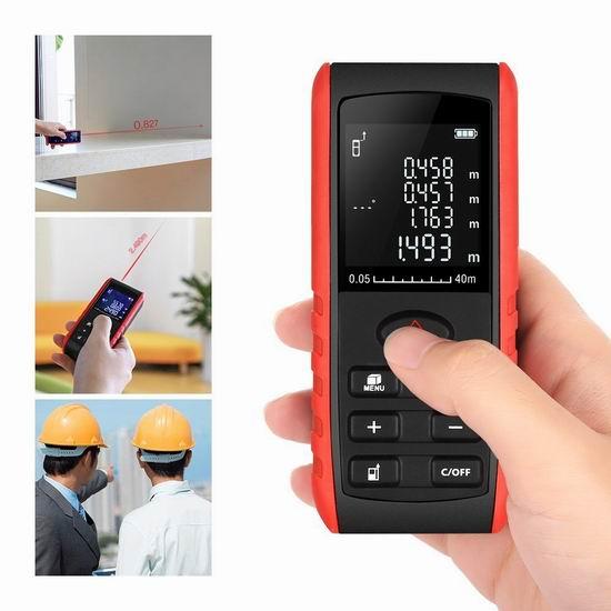 INLIFE 40米/60米/80米 激光测距仪 23.67-30.59加元限量特卖并包邮!