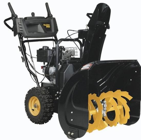 历史新低!Poulan Pro PR241 24英寸 208cc 双阶汽油铲雪机4.9折 675.32加元包邮!