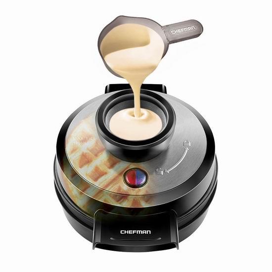 金盒头条:Chefman RJ04-4RV 华夫饼机6.4折 31.99加元!