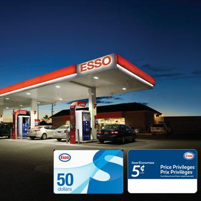 最后一天!Esso 连锁加油站 50加元电子加油卡+100加元电子省油卡仅售118加元!相当于省油卡6.8折!