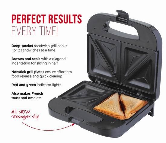 金盒头条:历史新低!Chefman RJ01-B 三明治烘焙机 35.99加元包邮!