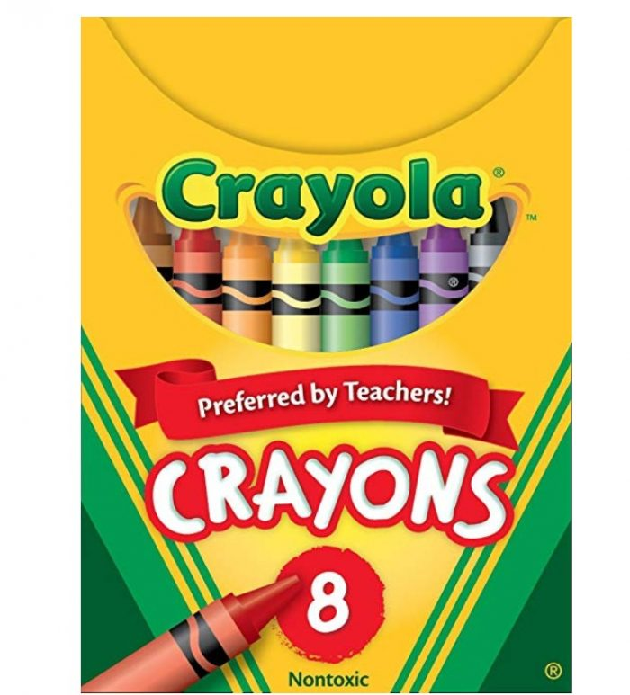 Crayola 蜡笔8支装 0.99加元