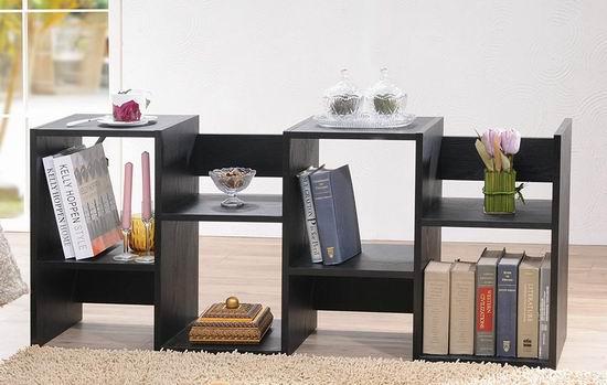 白菜价!历史新低!Furniture of America Enitial Lab 时尚书架/展示柜2.4折 53.42加元包邮!