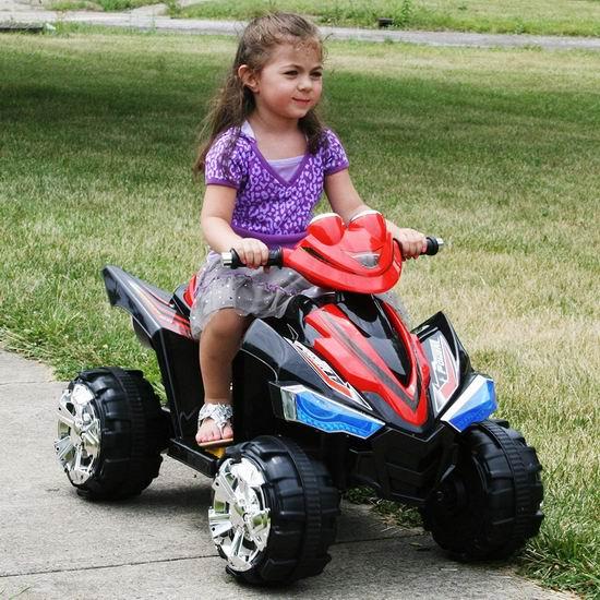 白菜价!历史新低!Lil' Rider 80-CH917 Pro Circuit Hero 儿童4轮电动车1.9折 68.72加元包邮!