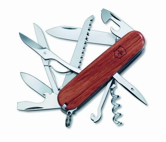 历史新低!Victorinox 维氏正宗瑞士 15功能 木纹猎人口袋刀3.4折 40.75加元包邮!