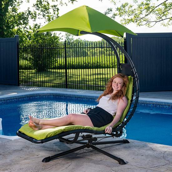 Vivere The Original Dream 360°旋转 苹果绿 遮阳休闲躺椅5.9折 216.93加元包邮!