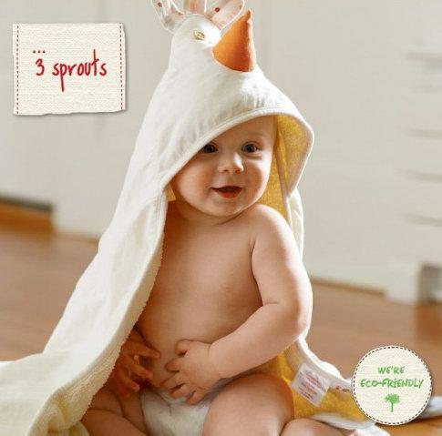 3 Sprouts 小鸡连帽毛巾 13.99加元,原价 19.95加元