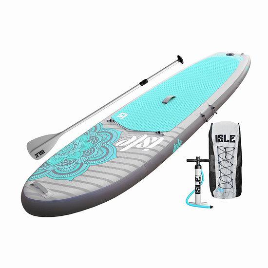 金盒头条:历史新低!ISLE Airtech 10英尺 iSUP 充气站立式桨板3.6折 596加元包邮!