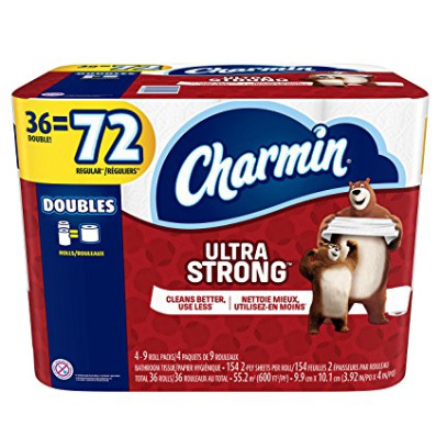 Charmin 双层超强卫生纸36卷 19.92加元,原价 26.99加元