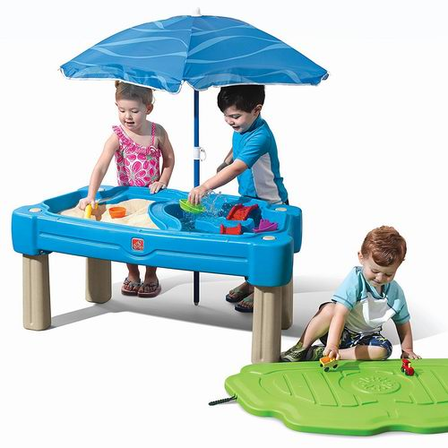 Step2 Cascading二合一沙水游戏桌+遮阳伞6.3折 99.98加元包邮!