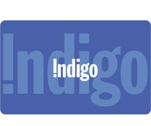 Indigo 电子礼品卡100加元仅售90加元!