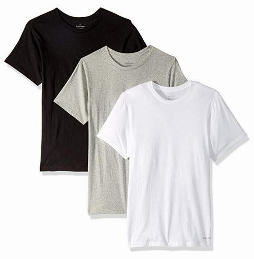 Calvin Klein 纯棉打底T恤 3件套 34.5加元,原价 46加元