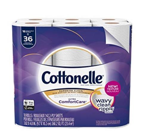 Cottonelle Ultra 18卷双层超软卫生纸 10.99加元,原价 25.46加元
