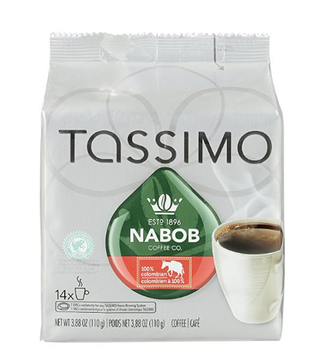Tassimo Nabob 100%哥伦比亚咖啡 5.68加元,原价 8.79加元