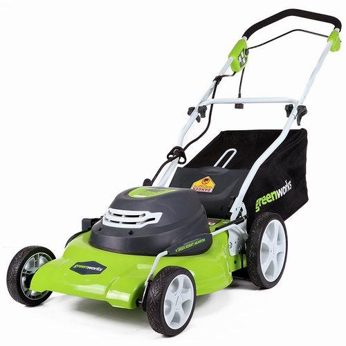 Green Works 25022 20英寸电动割草机5折 239加元包邮!