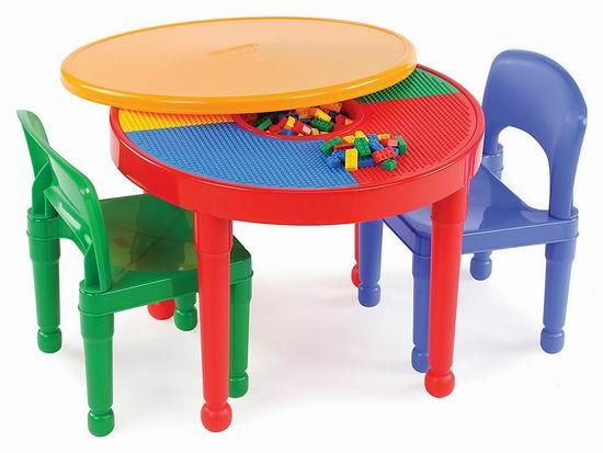 Tot Tutors 二合一 Lego积木游戏桌/儿童书桌3件套5.2折 78.48加元包邮!