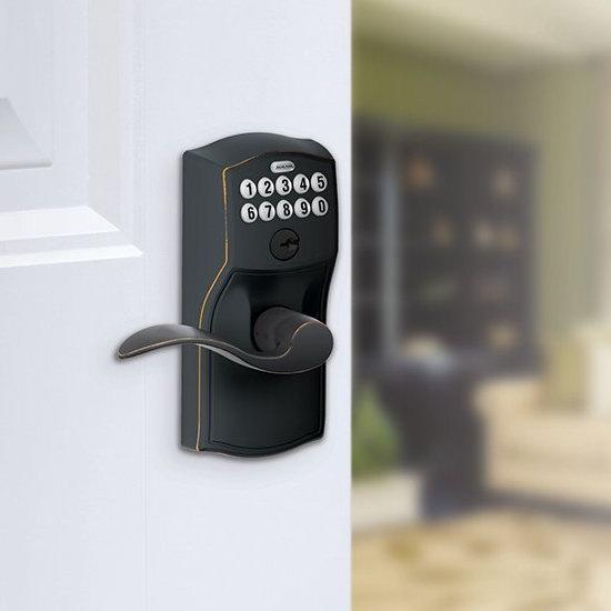 历史新低!Schlage 西勒奇 FE595VCAM716ACC 电子密码门锁3.6折 95.98加元包邮!