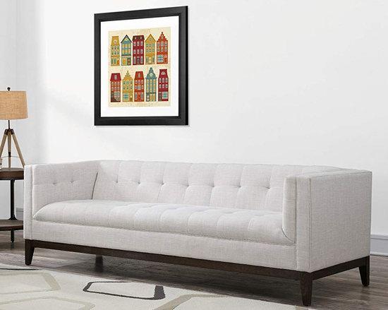 手慢无!历史新低!TOV Furniture TOV-S37S Gavin 复古亚麻 长款沙发2.1折 433.96加元清仓并包邮!