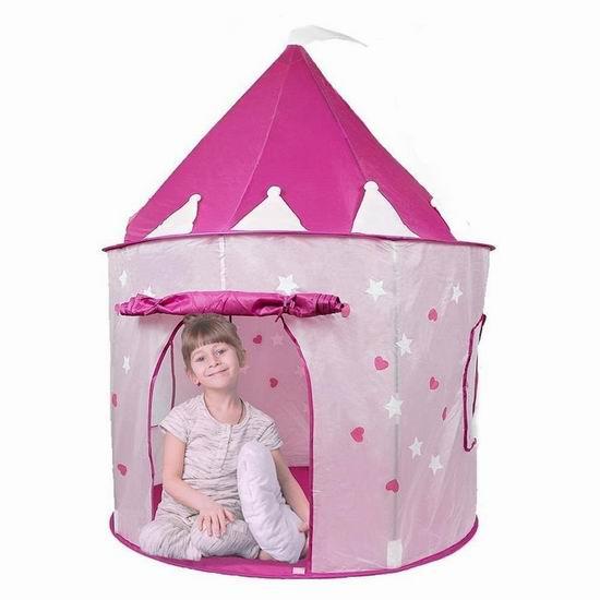 超级白菜!Pockos 夜光星星 便携儿童城堡/帐篷1.2折 9.95加元清仓!