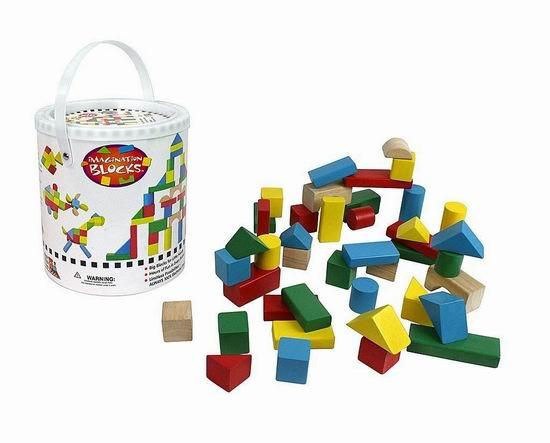 白菜价!历史新低!Right Track Toys 100%天然实木 彩色积木(42pcs)2.2折 6.95加元清仓!