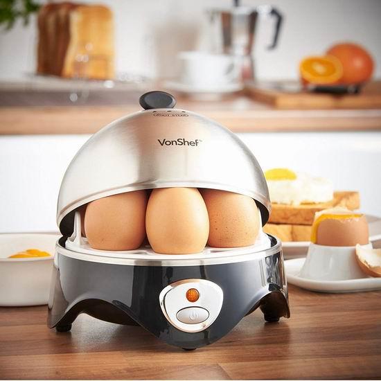 白菜价!历史新低!VonShef 不锈钢多功能快速煮蛋器2.6折 13加元清仓!