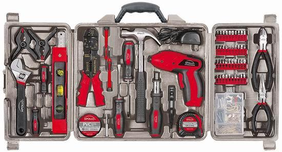 历史新低!Apollo Precision Tools DT0738 家用工具161件套3.7折 61.52加元包邮!