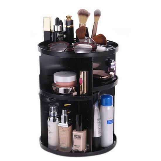 Tebery 360度旋转 化妆品收纳盒 17.99加元清仓