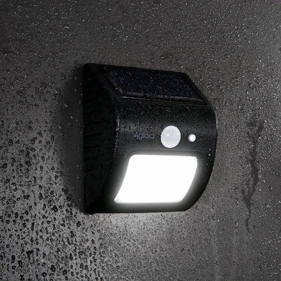历史新低!Aglaia 8 LED 太阳能防水运动感应灯2.1折 6.99加元清仓!