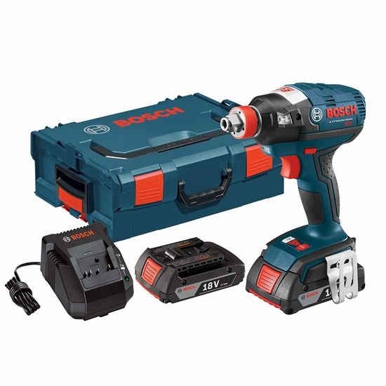 手慢无!Bosch 博世 IDH182-02L 18伏 无刷电机 冲击起子套装3.5折 191.72加元包邮!