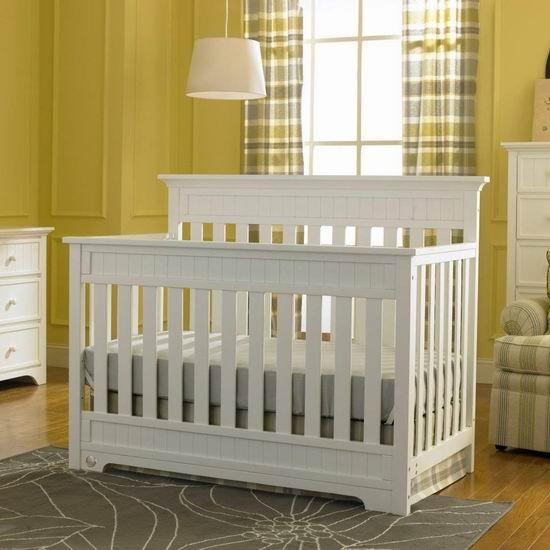 历史最低价!Fisher Price 费雪 Lakeland 四合一成长型 白色实木婴儿床5折 249.99加元包邮!