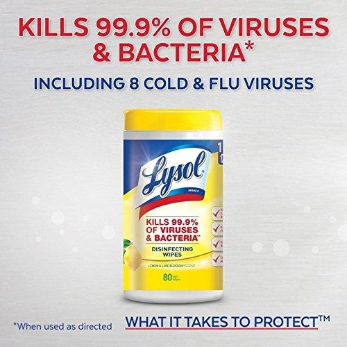 Lysol 来苏尔 消毒湿巾4筒超值装(400抽) 12.97加元!