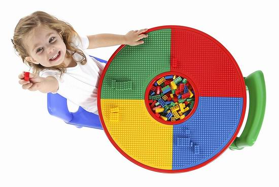 Tot Tutors 二合一 Lego积木游戏桌/儿童书桌3件套5.6折 85.33加元包邮!