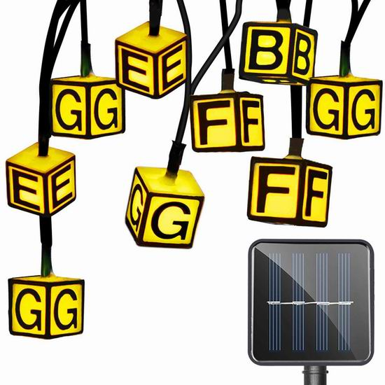 超级白菜!Zhen Qi 30 LED 太阳能户外字母装饰灯0.7折 1.6加元清仓!3套 4.8加元包邮!