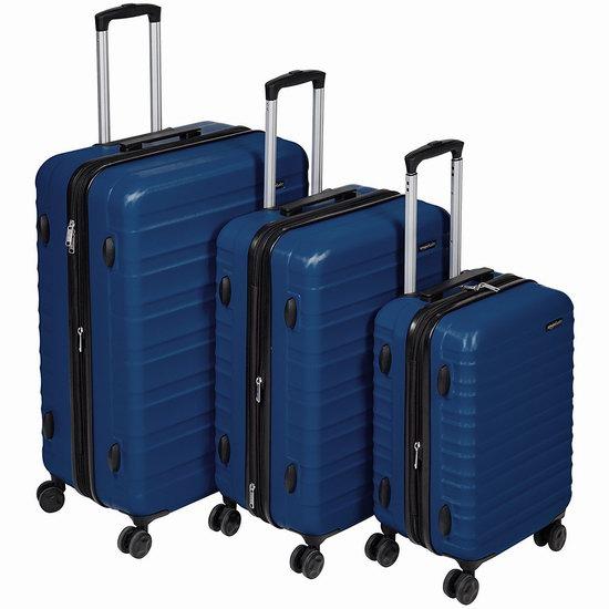 AmazonBasics 20/24/28寸 可扩展 硬壳 拉杆行李箱3件套 158.66加元包邮!3色可选!