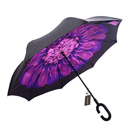 白菜价!历史新低!WASING 双层抗风防紫外线 创意雨伞/倒伞3.6折 10.99加元清仓!6色可选!