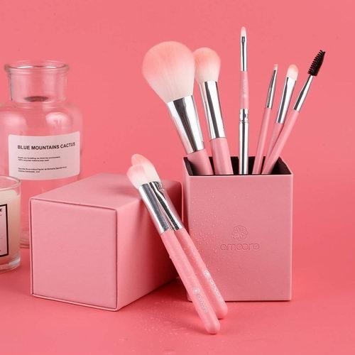 化妆达人必备!amoore 水粉色 化妆刷8件套 11.95加元特卖!