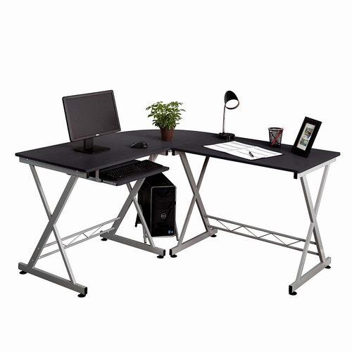 Fineboard FB-LD05-BKSR L型时尚电脑桌/书桌 157.99加元,原价 209.99加元,包邮