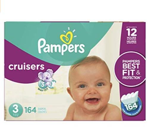 新款 Pampers Cruisers系列婴幼儿尿不湿/纸尿裤 32.42加元(3-7码),原价 39.99加元