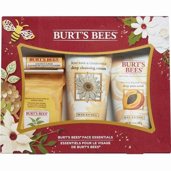 历史新低!Burt's Bees 小蜜蜂 天然面部护理4件套6.2折 14.34加元!