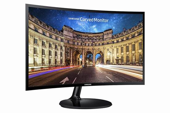 Samsung 三星 LC24F390FHNXZA 24英寸 曲面屏 超薄游戏显示器6折 149.98加元包邮!