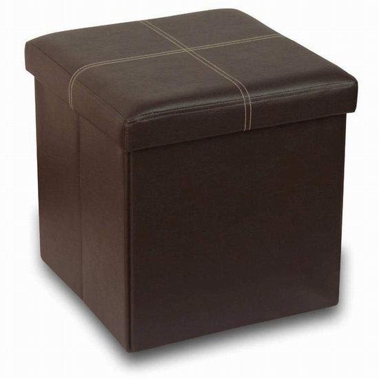 近史低价!Otto & Ben 15英寸 记忆海绵软垫 可折叠 人造革脚踏凳4折 28.46加元!
