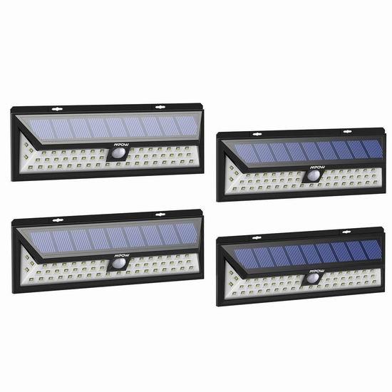 历史新低!Mpow 54LED 超级亮 太阳能运动感应灯4件套4.8折 50.99加元限量特卖并包邮!