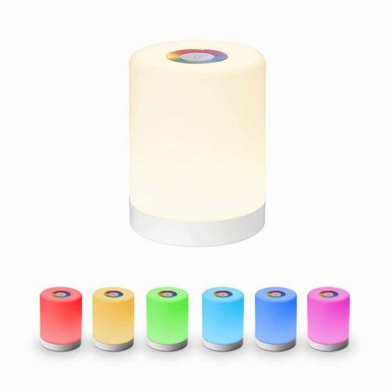 历史新低!SlowTon 触控式 可充电 七彩变色 LED台灯/夜灯 10.98加元清仓!