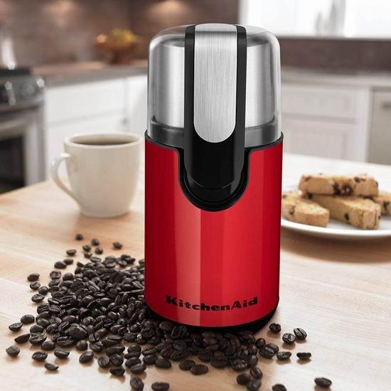 历史新低!KitchenAid BCG111ER 红色 咖啡豆研磨机/磨豆机5.4折 44.99加元包邮!