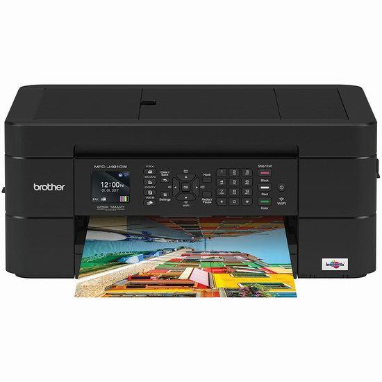 Brother MFCJ491DW 多功能 无线彩色喷墨打印机5折 65.17加元包邮!