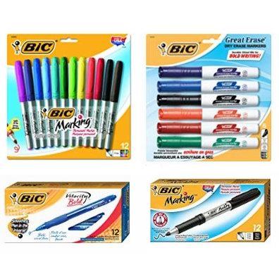 金盒头条:精选多款 BIC 原子笔、马克笔、签字笔、修正带、笔芯等5.2折起!