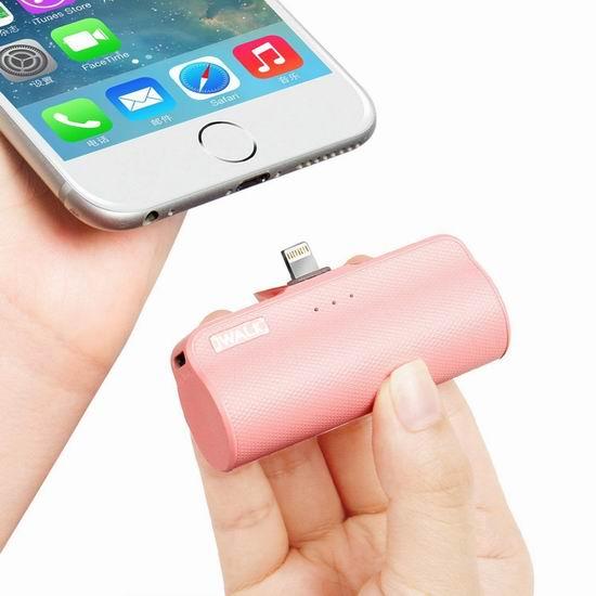 iWALK 3300mAh 超迷你iPhone手机 移动电源/充电宝 16.99加元限量特卖!4色可选!