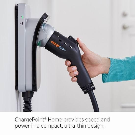 历史最低价!ChargePoint Home Wi-Fi 32A 电动汽车 家用智能充电器 839.2加元包邮!