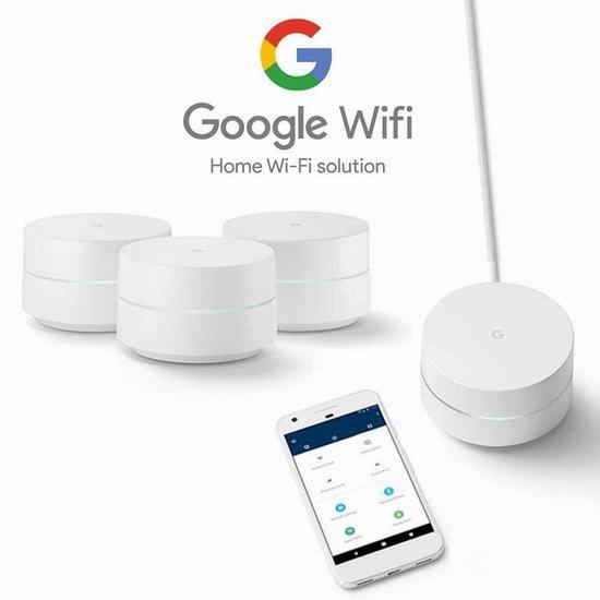 历史最低价!Google Whole Home 家用 Mesh Wi-Fi 无线路由器3件套5.3折 299.99加元包邮!